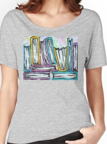 Watercolor books on pages Women's Relaxed Fit T-Shirt