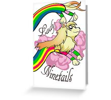 Lady Ninetails Greeting Card