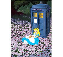 Alice & The Tardis Photographic Print
