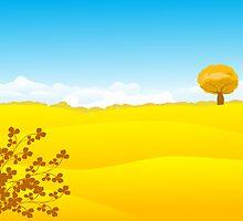 Beautiful autumn landscape by Richard Laschon
