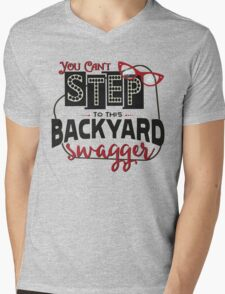 Miranda Inspired - You Can't Step to this Backyard Swagger - Little Red Wagon - Country Song Lyric Mens V-Neck T-Shirt