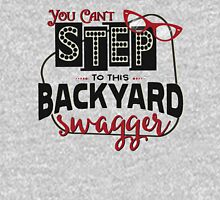 Miranda Inspired - You Can't Step to this Backyard Swagger - Little Red Wagon - Country Song Lyric Womens T-Shirt