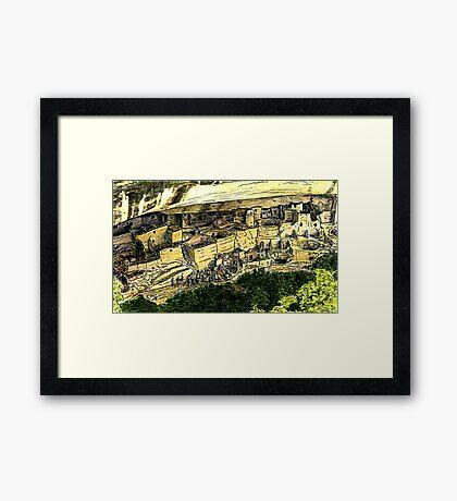 Mesa Verde 2000 jGibney The MUSEUM Zazzle Gifts RedBubble Framed Print