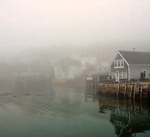 Fog, Stonington Harbor, Maine by fauselr