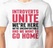 Introverts Unite Funny Quote Unisex T-Shirt