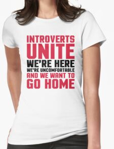 Introverts Unite Funny Quote Womens Fitted T-Shirt