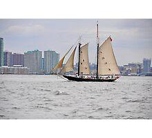 Sailing Past Jersey Photographic Print