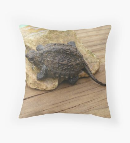A real baby Dinosaur  Throw Pillow