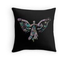 Colourful Clockwork Angel Throw Pillow
