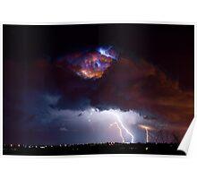Highway 52 Lightning Boulder County Poster