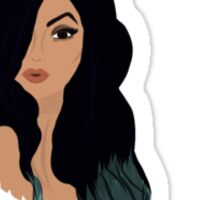 kylie jenner cartoon drawing  Sticker