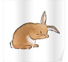 Watercolour Rabbit 1 Poster