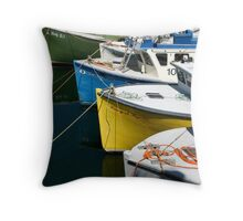 Colourful Fleet Throw Pillow