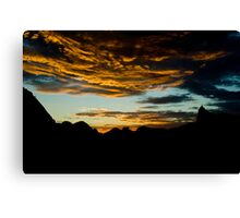 Sunset in Rio Canvas Print