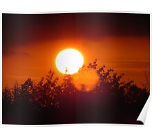 Sunset over stevenage  Poster