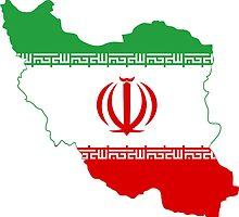 Flag Map of Iran  by abbeyz71