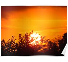 Sunset over Stevenage with Trees Poster