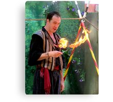 You Want Me To Do WHAT With This Fire? Metal Print