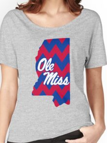 Ole Miss Chevron State Women's Relaxed Fit T-Shirt