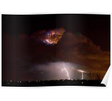 Lightning Storm Clouds Poster
