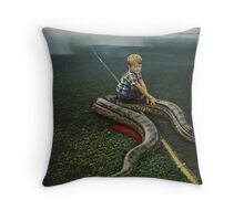 SNAKED Throw Pillow