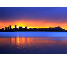 Honolulu Sunrise Photographic Print