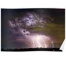 Massive Lightning Storm - Boulder County Colorado Poster