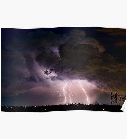 Boulder County Lightning Striking Image 29 Poster