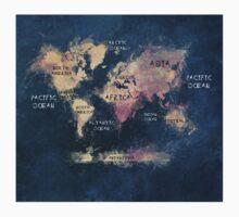 World map blue  Baby Tee
