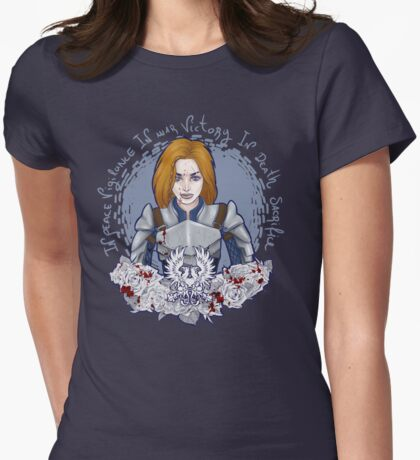 Grey Warden Womens Fitted T-Shirt