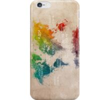 World Map Oceans and Continents iPhone Case/Skin