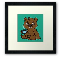 Coffee Bear  Framed Print