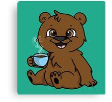 Coffee Bear  Canvas Print