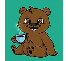 Coffee Bear  Photographic Print