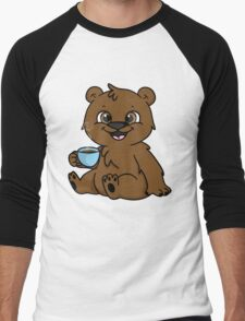 Coffee Bear  Men's Baseball ¾ T-Shirt