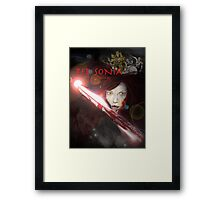 RED SONIA ,BLOOD WARS Framed Print