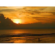 Seminyak Beach at Sunset Photographic Print