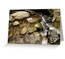 still water flows. Greeting Card