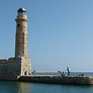 Lighthouse and Locals by Trish Meyer