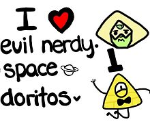 I Love Evil Nerdy Space Doritos by clairethefaller