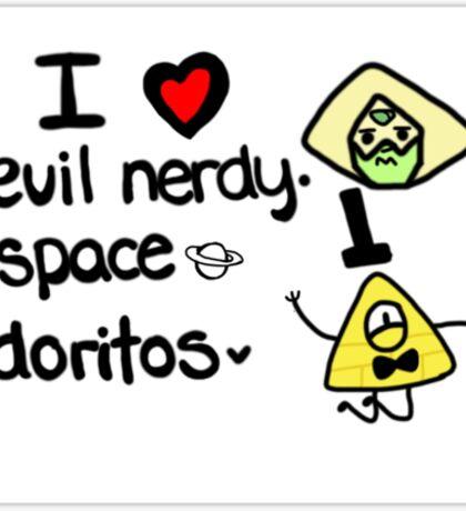 I Love Evil Nerdy Space Doritos Sticker