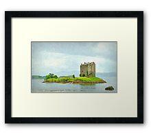 stalker castle - scotland  Framed Print