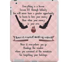 Truce is a Word Made of Velvet iPad Case/Skin