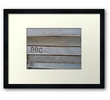 Are you on my wavelength? Stripey Deckchairs - Solved by RedHillDigital ~ Framed Print