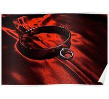Slave Collar on Scarlet Satin Poster