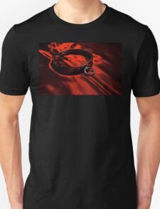 Slave Collar on Scarlet Satin Unisex T-Shirt