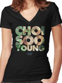 Girls' Generation (SNSD) Sooyoung 'Party' Women's Fitted V-Neck T-Shirt