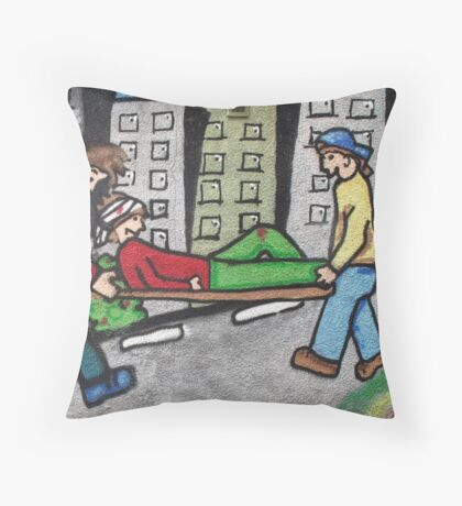 Wall Painting Dundee Throw Pillow
