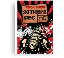 Rock show Canvas Print