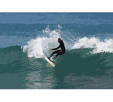 Cutout Surfer #1 Photographic Print